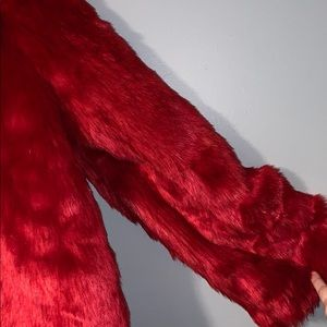 Forever 21 Jackets & Coats - Red Faux Fur Coat